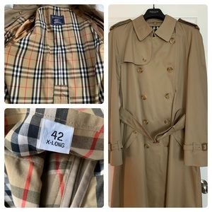 Vintage Burberry Double Breasted Kensington Trench